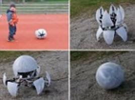 Robotic 'ball' can scuttle, spin and roll away from kids
