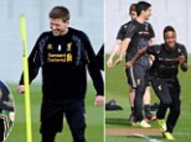 Steven Gerrard and Luis Suarez lead Liverpool's smiling stars ahead of Chelsea clash