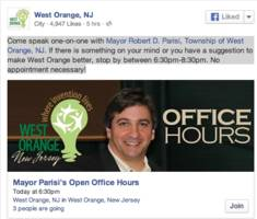 Meet the West Orange Mayor Thursday Night